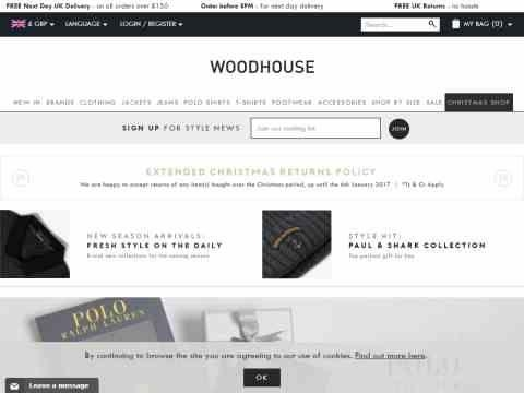 Woodhouse Clothing Voucher Codes And Promotions For March 2019