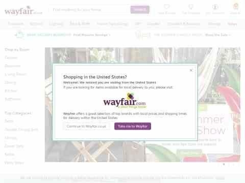 wayfair uk voucher codes and offers for march 2019. Black Bedroom Furniture Sets. Home Design Ideas